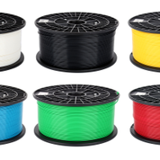 PLA 3D Printer, Tanslucent Filament Spool - yellow, 1.75mm Diameter, 1KG