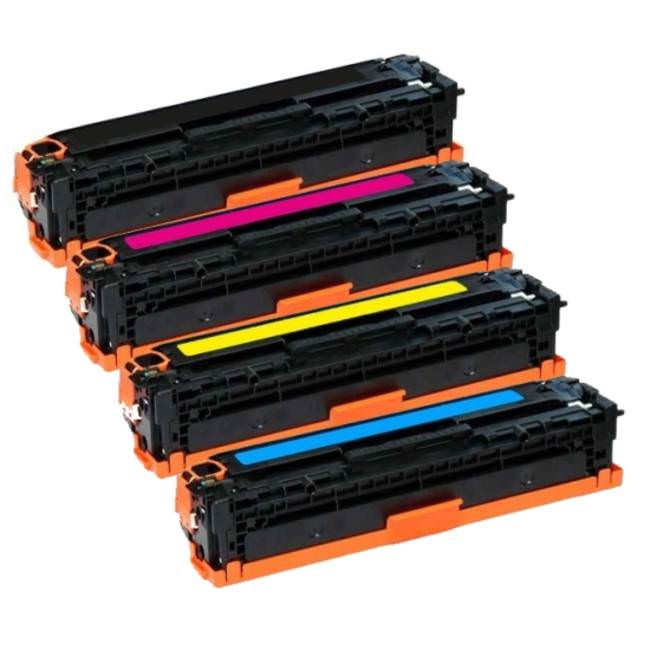 Remanufactured HP LaserJet CE400X, CE401-3A Toner Set